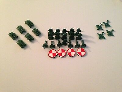 Axis and Allies Eagle Games Attack! Poland Polish Minor Allies Battle Pieces Lot