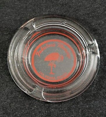 "Vintage Fabulous Flamingo hotel glass ashtray 4"" Las Vegas"