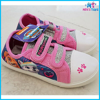 PAW Patrol Girls Pink Canvas Pump Infant Trainers Shoes Sizes 5-10 UK brand new