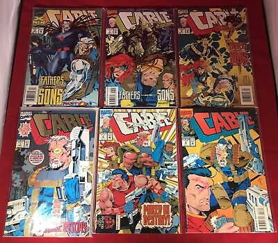 Cable #1-3 #6-11 #13 #16 (1993) Marvel Comic Lot 1St Weasel! Onslaught