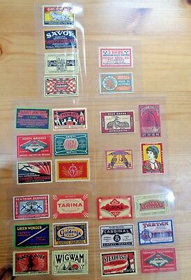 Matchbox Label Collection In Old Tin