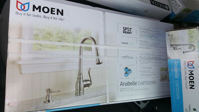 MOEN ANABELLE CA87003SRS Pulldown Kitchen Faucet - Stainless ...
