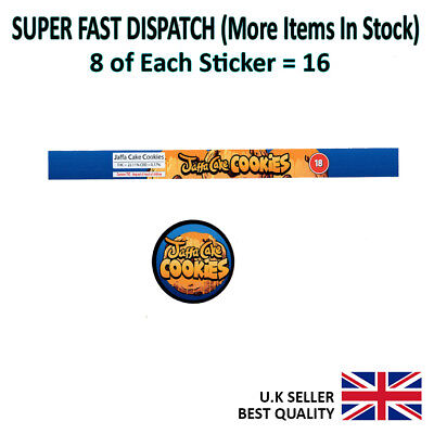 Jaffa Cake Cookies Cali Tin Labels Stickers 100ML CAN (8 + 8 = 16 Stickers)