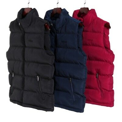 801b6ff3b47 Mens Winter Down Quilted Vest Body Warmer Warm Sleeveless Padded Jacket Coat  US