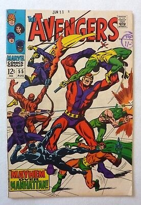 The Avengers 55 Silver Age 1968 VNF Condition First Ultron
