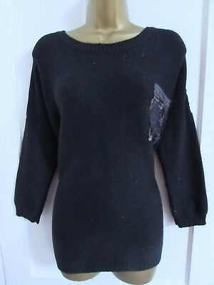 Blooming Marvellous Maternity Ladies Navy Blue Sparkly Jumper Size Medium 14
