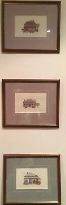 Set Of Three Tapestry Picture Frames