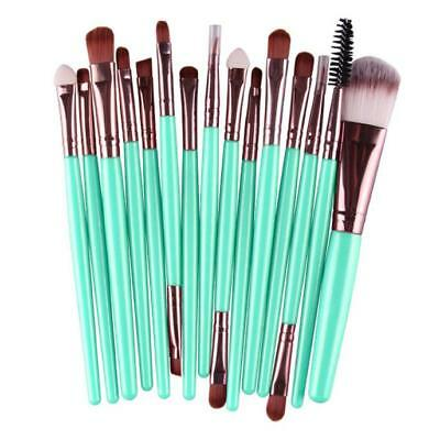 15pcs Pro Makeup Brushes Set Eye Shadow Foundation Powder Lip Cosmetic Brush Kit