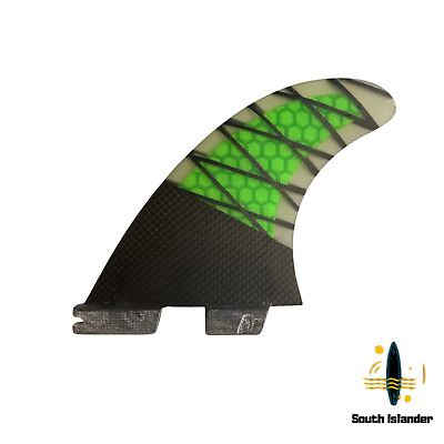 FCS2 Future fins REACT template Green Performance Core Carbon PCC
