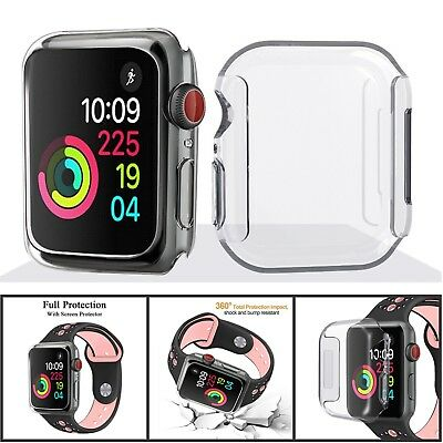 TPU Watch Bumper Case Cover Screen Protector For Apple Watch Series 4 40/44mm