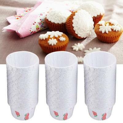 100× Paper Cake Cupcake Liner Case Wrapper Muffin Baking Cup Party Wedding Mini