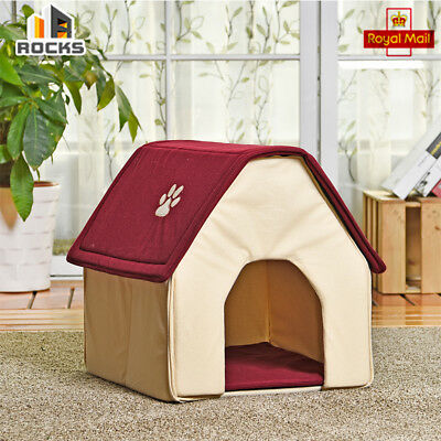 Removable House Polyester Pet Dog / Cat House Kennel Bed Durable Plastic Winter