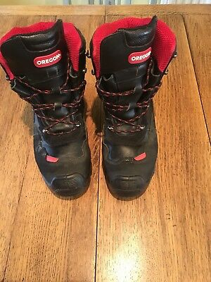 chainsaw boots size 9
