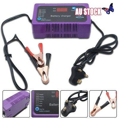 12V/24V 200AH Electric Car Dry&wet Battery Charger Intelligent Pulse Repair AU
