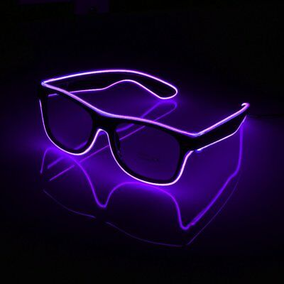 El Wire LED Brille Shutter Shaped Glasses Partybrille Leuchtbrille Party TOP