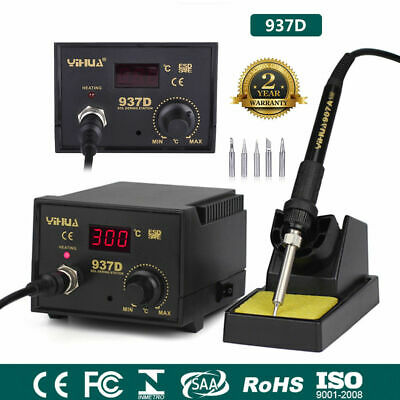937D Iron Soldering Station 45W SMD Welder Welding Tool Kit 6 Tips Stand 230V