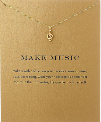 New Fashion Pendant Treble Clef Jewelry Note Clavicle Chain Necklace Gift Music