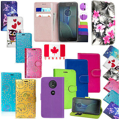 For Motorola Moto E5 /G6 Play Shockproof PU Leather Wallet Flip Stand Case Cover