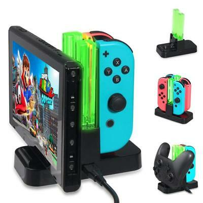 4 Port Controller Charger Charging Dock Station For Nintendo Switch Joy-Con