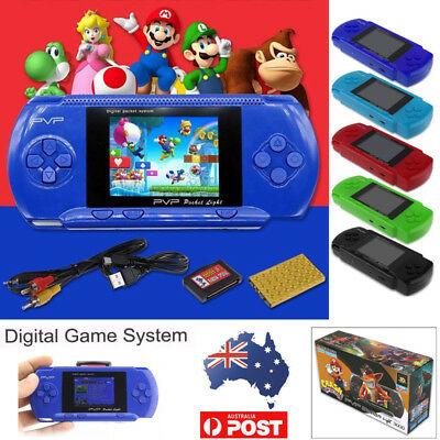 Portable Handheld Console Built-In 64 + 10 Game Card Retro Video For Mario 2.6""