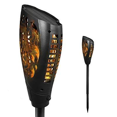 Petrala Solar Torch Lights Outdoor 3 Modes Dancing Flames Decorative Warm Novelt