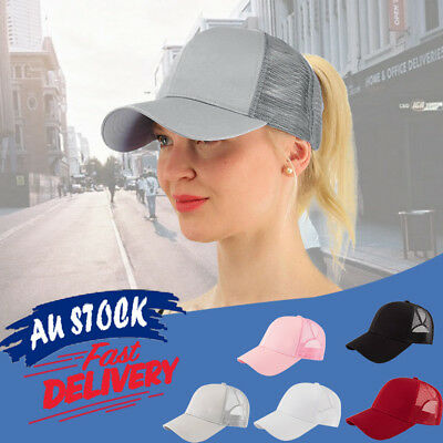 Baseball Caps Hat Snapback Ponytail Women Messy Bun Sun Sport