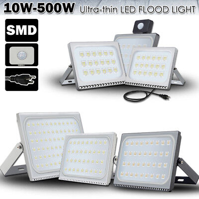 LED Flood Lights 500W 300W 200W 150W 100W 50W 30W 20W 10W Security Outdoor Lamp