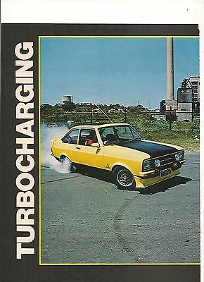 Original Vintage 1978 Australian 4 Page Feature On A Turbocharged Ford Escort