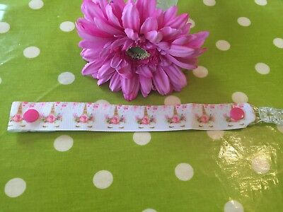 1 X Unicorn Dummy Clip Baby Girl Pink Floral