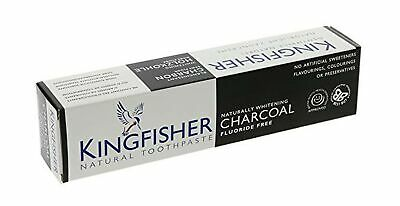 Kingfisher NATURALLY WHITENING CHARCOAL Toothpaste 100ml (Pack of 3)