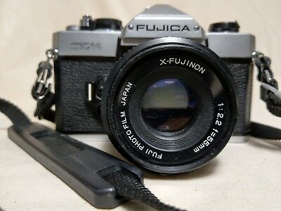 FUJICA STX-1 35mm film SLR Camera with owner manual