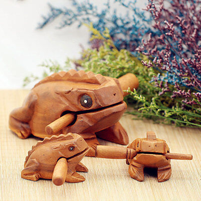 Musical Percussion Instruments Frog Baby Wooden Toy Croaking Handcraft Rattle