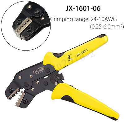 Pro Wire Crimpers Engineering Ratchet Terminal Crimping Pliers Tool 0.25-6.0mm²