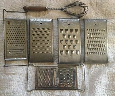 3 Wonder Shredders Pat#'s 1 Tala Vintage Metal Grater 1 Grater & 1 Whisk 6 Items