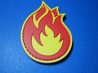 """Tactical Morale Patch """"fireball"""" Pvc With Hook Back Firefighter Fire Service"""