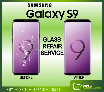 Samsung Galaxy S9 Cracked Screen Glass Repair Replacement Mail In Service