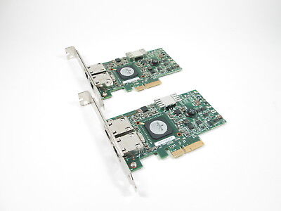 Lot of 2 Dell Broadcom NetXtreme II 5709 Dual Port GbE Network Card G218C F169G