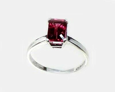 "19thC Antique 1¼ct Handcrafted Norway Rhodolite Bohemian Gypsy ""Cape Ruby"" Ring"