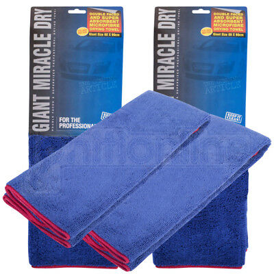 2x Extra Large Microfibre Car Drying Towel Detailing Polish Cloth Super Absorb