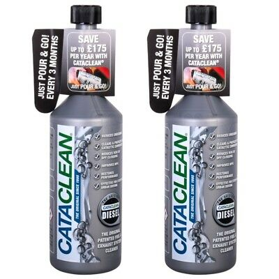 2x CataClean Diesel Fuel Car Engine DPF Exhaust System Catalytic Cleaner 500ml