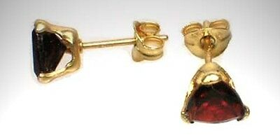 19thC Antique 2ct Garnet Ancient Anglo-Saxon Celt Frank Norman German Gem 14ktGF