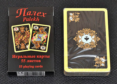 RUSSIAN SERIES - PALEKH 55 PLAYING CARDS RED or YELLOW BACK
