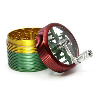 """New Style 4 Layers Aluminium Alloy Thread Tobacco Herb Grinder Multi Color 2.48"""""""
