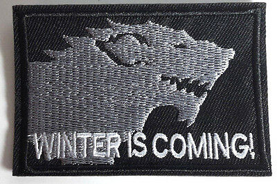 "Game Of Thrones Winter Is Coming- Stark House Patch 3 "" - GRATUIT S&h (Gtpa-010)"