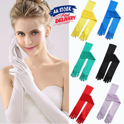 Evening Party Prom Wedding Bridal Costume Gloves Fashion Satin Long Opera