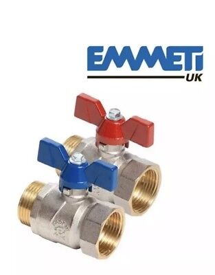 Emmeti 1″ Ball Valve with Butterfly Handle - (Red & Blue)