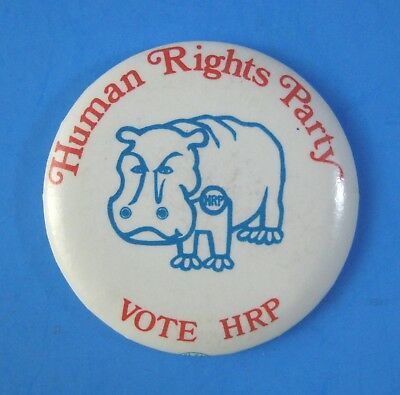 Vintage 1970s Human Rights Party Pin Pinback Button Ann Arbor Michigan