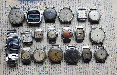 Lot of 19 pcs Vintage Russian Wrist Watch,Zim,Elektronika,Pobeda,Luch,Zvezda