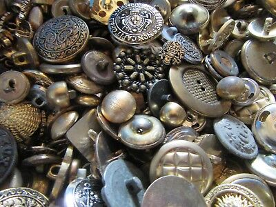 Antique Vintage Modern Mix of Metal Sewing Buttons 1/2 lb Lot