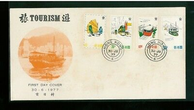 ( Hkpnc ) Hong Kong 1979 Tourism Cpa First Day Cover Unaddress.even Toning